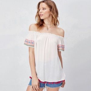 Love Stitch embroidered top